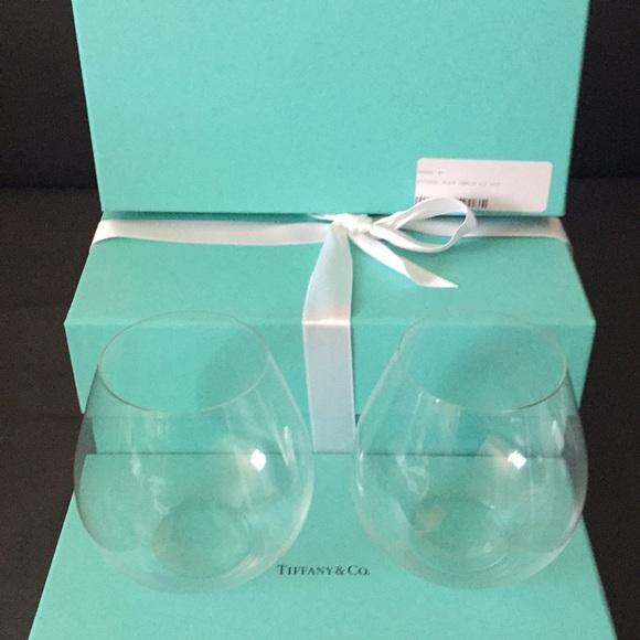 6b0a7ade9bf7 New Tiffany   Co RIEDEL Tumbler Crystal Glasses